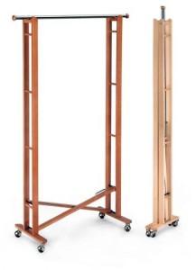 Напольная складная вешалка Metalnova деревянная