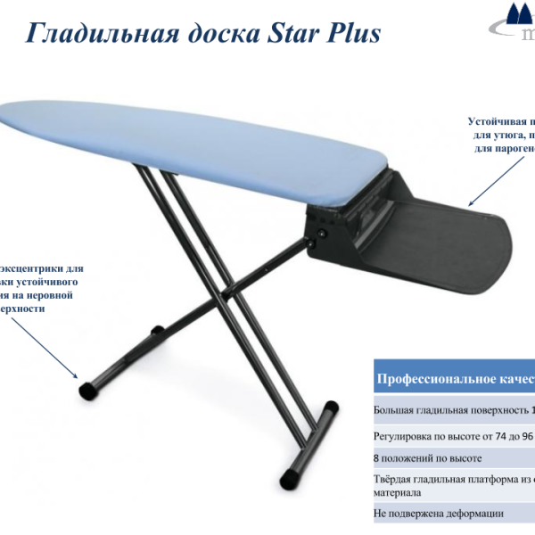 Гладильная доска Metalnova Star Plus